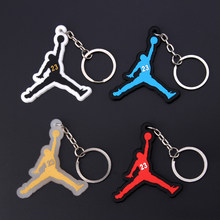 Keychain Mini Silicone Jordan Shoe Key Chain Woman Men Kids Gift Key Ring Basketball Sneaker Porte Clef(China)