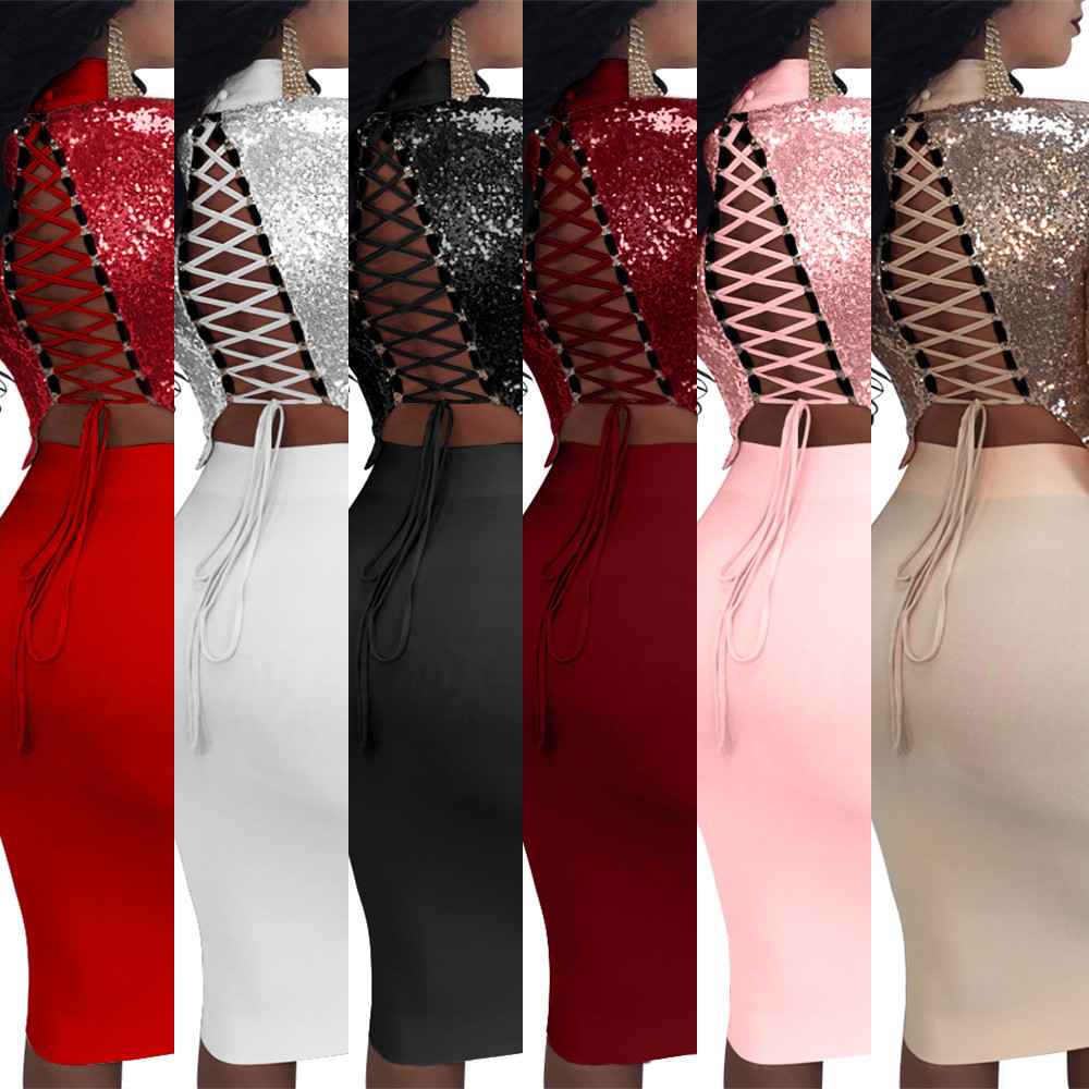 Women Autumn Dresses 2019 New Fashion Party Ladies Dress Sexy Club Knee Length Dress Woman Clothes Vestidos in Dresses from Women 39 s Clothing