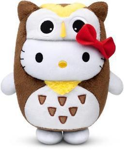 Hot selling Hello kitty wisdom owl toy plushed doll christmas gift birthday gift free shipping