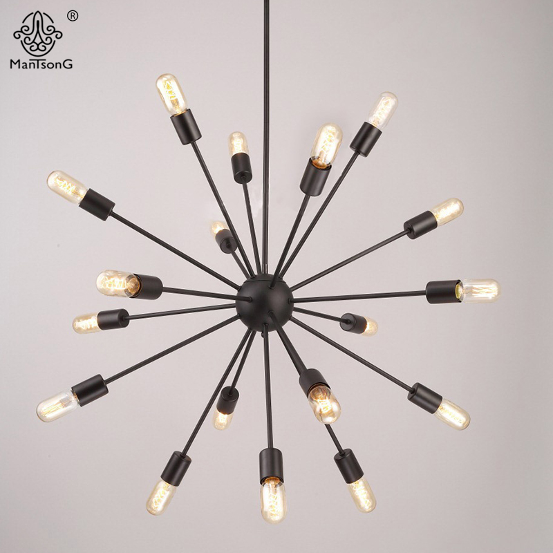 Iron Art Design Vintage Style Industrial Black Pendant Lights Loft E27 90~260V AC Lamps For Bar Cafe Home Decoration Lighting new loft vintage iron pendant light industrial lighting glass guard design bar cafe restaurant cage pendant lamp hanging lights