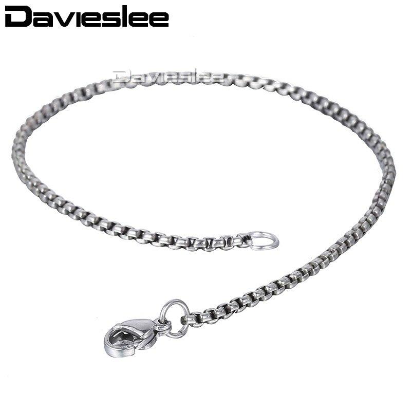 6843e7d0c098 Davieslee Mens pulsera de cadena de acero inoxidable pulido plata negro oro  cadenas pulsera para hombres cubano 3 5  7 9 11mm KBM218USD 2.09-4.71 piece  ...