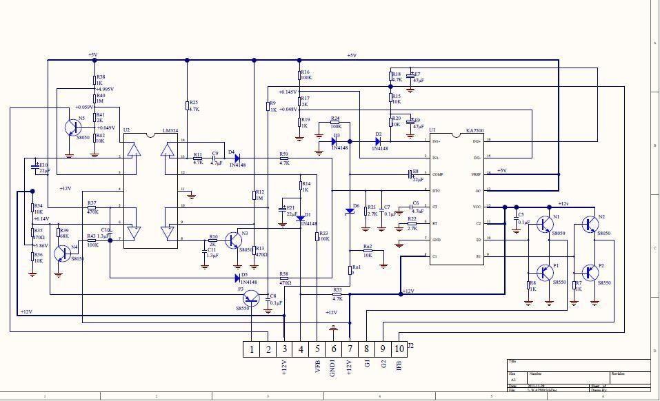 US $5 58 7% OFF|EG7500 Inverter chuyển đổi power board điều khiển tương  thích KA7500 TL494 trong EG7500 Inverter chuyển đổi power
