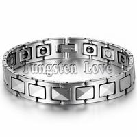 8 7 Cool Black Tungsten Men Stereoscopic Bracelet Health Balance Bracelet With Energy Magnetic Stone Inlay