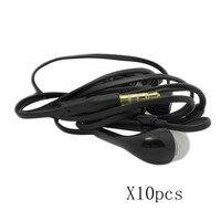 10pcs In Ear Compatible Headset Earphone Headphone Earbud Mic Volume Control Listen Answer Calls