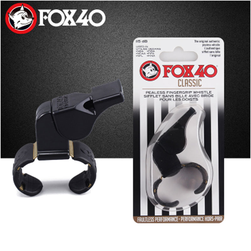 Fox 40 Classic referee whistle The original Pealess Whistle in Fingergrip style Flawless consistent and reliable in Whistle from Sports Entertainment