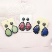 3  pairs of natural fashion 2019 opal earrings drop crystal zircon set with attractive