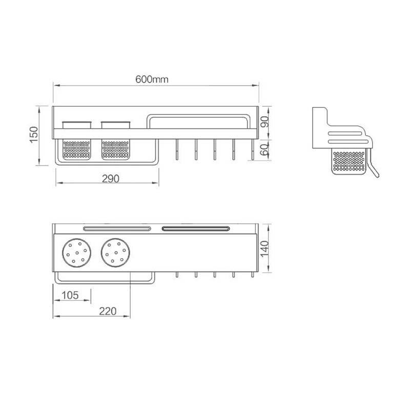 Купить с кэшбэком Golden Kitchen Storage Cocina Storage Closet Space Aluminum Spice Rack Cabinet and Pantry Organizers Wall Mounted F
