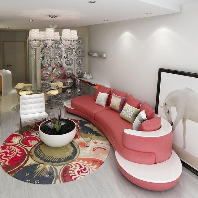 Ensemble de canapé en cuir dimportation de 3 pièces pour le salon de grande villa # CE-GY-9040
