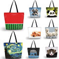 New Fashion Women's Shopping Shoulder Bag Laptop Bag Handbags Ladies Large Foldable Totes Bags With Zipper Custom DIY picture