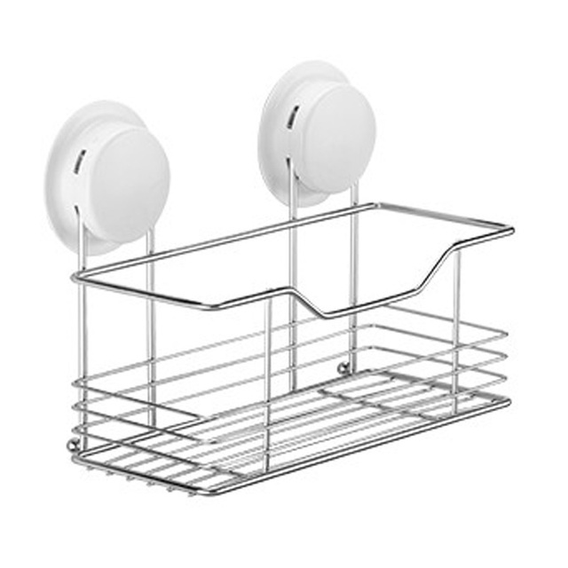 Bathroom Storage Shelf Suction Cup Stainless Steel Shelves Accessories 260022