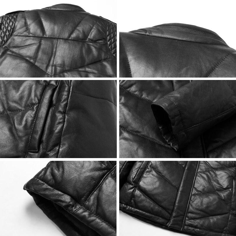 Occasionnel Chaud Outwear Manteau Court Cuir vent Nouveau L'eau Noir Coupe En À Moutons Véritable Bas Vestes Imperméable UwdxTqY