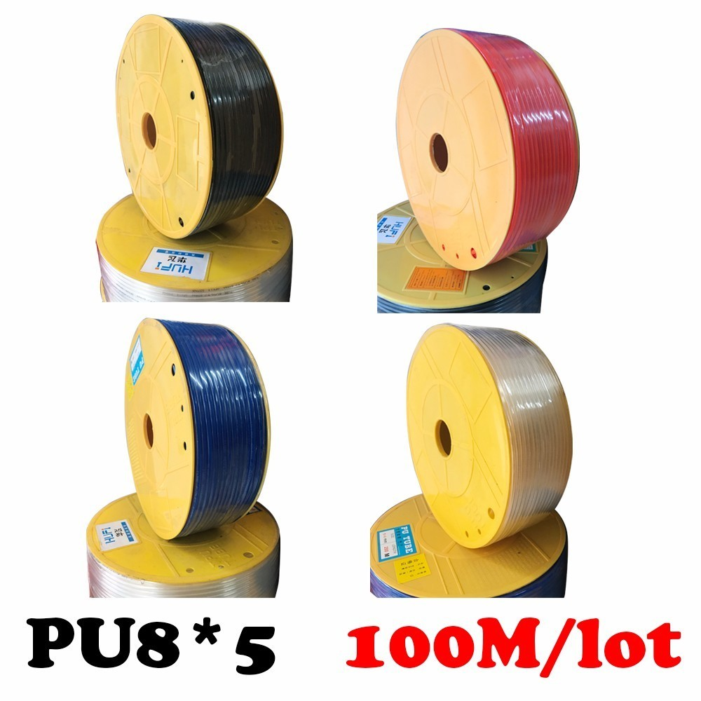 PU8*5 100m/roll Joint pneumatic hose PU tube 8*5mm air pipe to air compressor pneumatic component redpneumatics-tube air compressor pneumatic valve 3 ways quick joint for 20mmx16mmx10mm air pipe