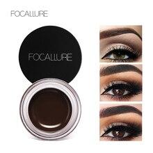 FOCALLURE косметический водостойкий гель для бровей, макияж, стойкий жидкий крем для бровей, набор для макияжа бровей+ Черная кисть