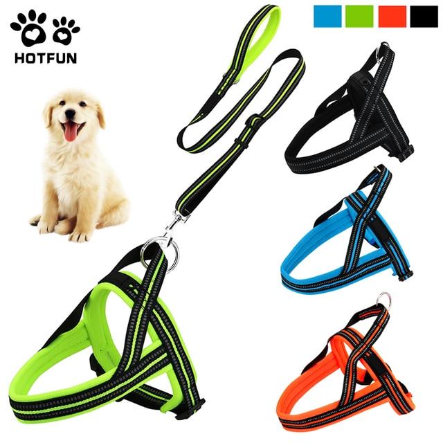 HOTFUN Pet Reflective Dog Harness Vest Leash No Pull Dog Strap Harness Large Dog Harness Leash_640x640 hotfun pet reflective dog harness vest leash no pull dog strap