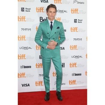 Latest Coat Pant Designs Mint Green Double Breasted Men Suit Slim Fit 2 Piece Formal Tuxedo Custom Groom Prom Blazer Ternos
