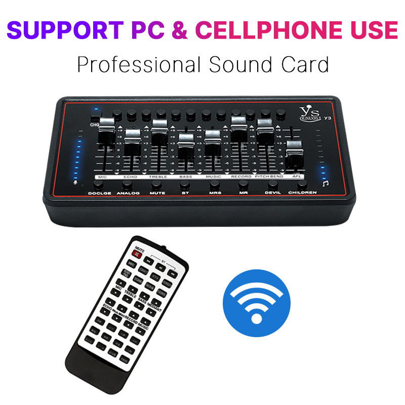 Professional Sound Card For bm 800 Studio Microphone Audio Interface Sound Card For Computer Live Broadcast