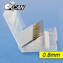 XCAN 10 Titanium Coat Carbide 0.8mm drill bit PCB Micro drill  woodworking dremel drill  mini drill electric