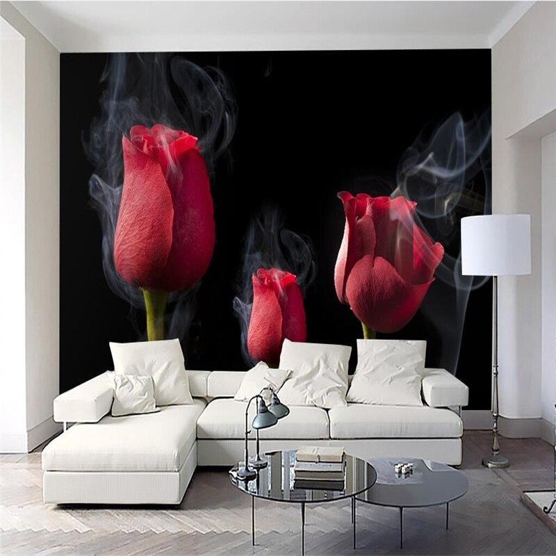 online kopen wholesale romantische rose behang uit china, Deco ideeën