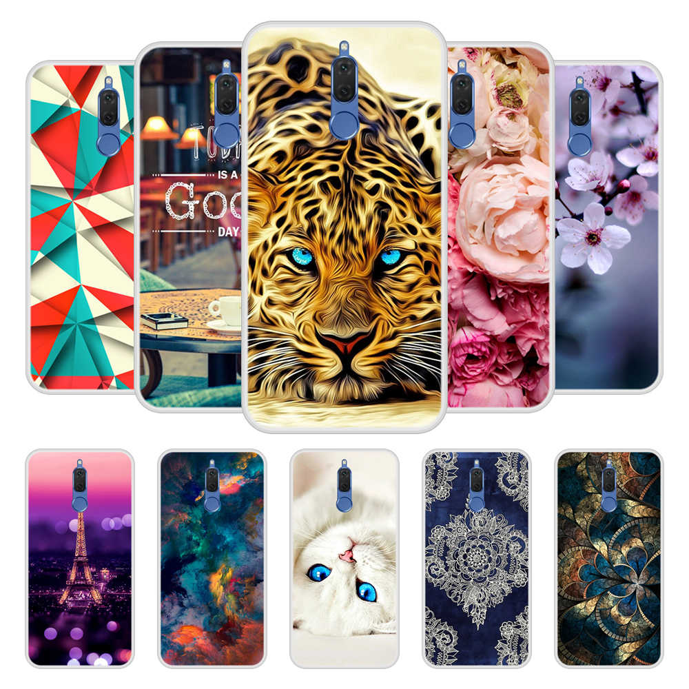 Case for Huawei nova 2i Soft Silicone TPU Cool Pattern Printing Phone Cover for Huawei nova2i Case Cover