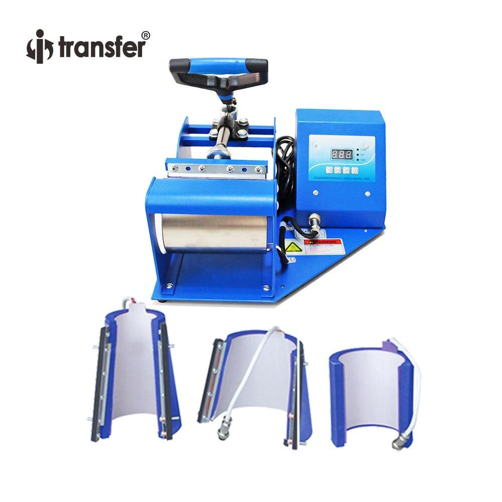 i transfer High Quality Multi size 9oz/11oz/12oz/17oz 4 in 1 Mug Heat Press Sublimation Mug Machine HPM02B