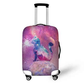 Constellation stars travel accessories suitcase protective covers 18-30 inch elastic luggage dust cover case stretchable bag pvc suitcase bag protective covers transparent rain dust luggage travel accessories wear resistant bag protect parts sleeve case