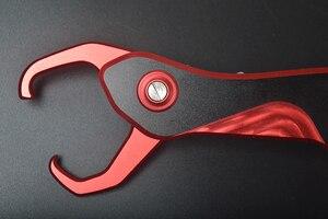 "Image 4 - סגנון חדש אלומיניום וו דגי בקר להסיר להתמודד עם כלי אחיזת שפתיים דייג גריפר 25 ס""מ 145 גרם עם 6 צבעים זמין"