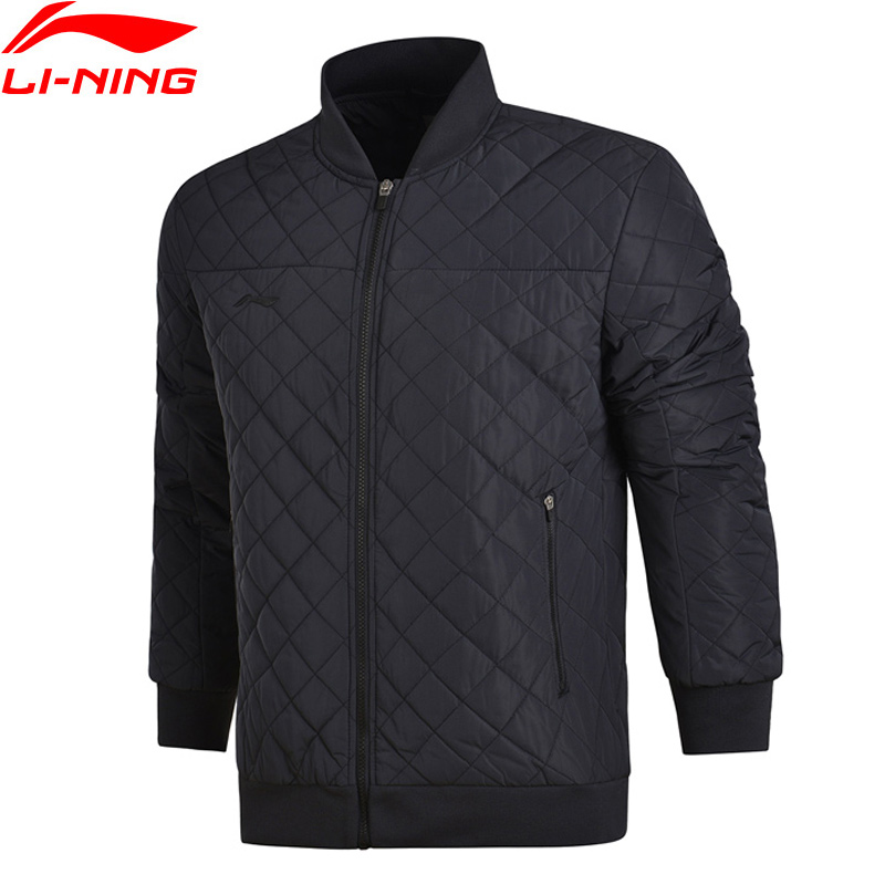 Li-Ning Men Soccer Series Short Cotton Jacket Stand Collar Winter Warm Polyester LiNing Sports Coat AJMM023 MWM1864 original li ning men professional basketball shoes