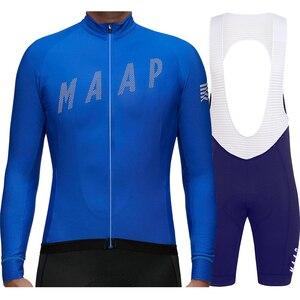 Manga larga maillot ciclismo Pro team 2020 autumn long sleeve cycling jersey set men's bike mtb jersey bicicleta jersey ciclismo(China)