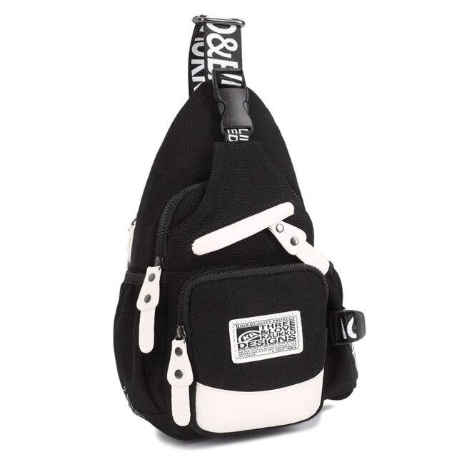 KAUKKO Women Men Canvas Messenger Chest Shoulder Bag  Travel Backpack 2016 popular Worldwide sale