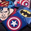 Comics DC Marvel The Avengers Wallets Captain America Iron Man Purse Simpson Spiderman Superman Batman Leather PVC Anime Wallet