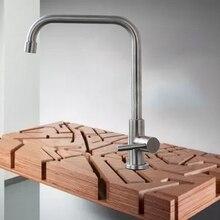 Смеситель для кухни хром полированный бассейна раковина кран Одной ручкой холодной воды Одной ручкой Поворотный Смеситель