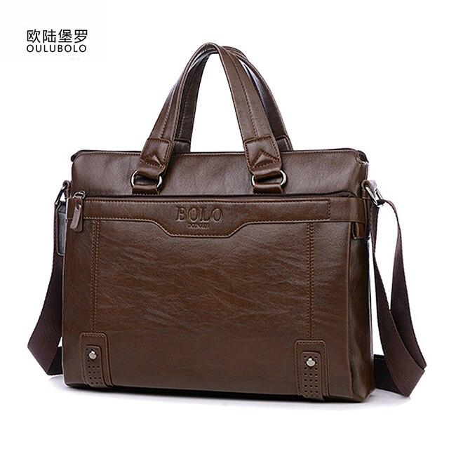 Brand Briefcase Men 2017 Business Leather Briefcase Men Messenger Shoulder Bag Laptop Men's Handbag High Quality