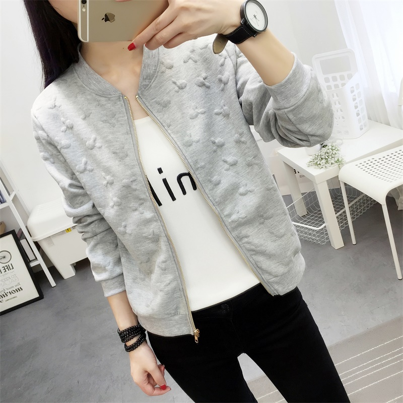 autumn spring new womens jacket Fashion Thin Windbreaker jacket Zipper Coats Outwear Sweethearts outfit womens clothing