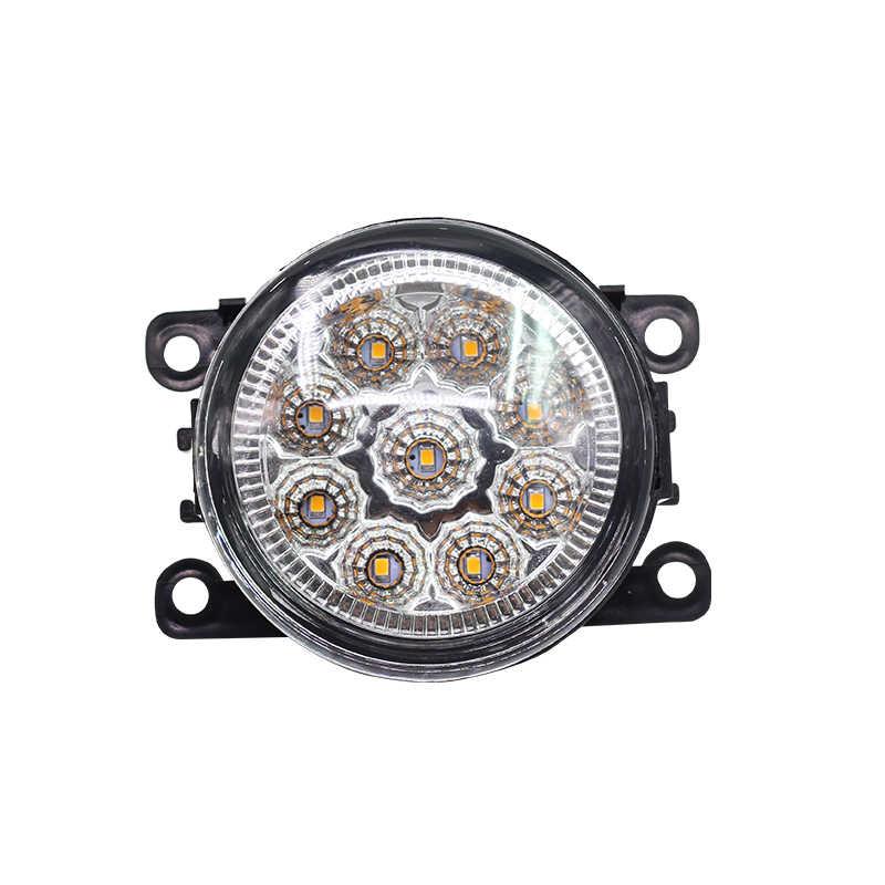 Buildreamen2 For Renault Sandero Stepway Hatchback 2009-2015 2 Pieces Car LED Light Fog Light Daytime Running Light DRL 12V DC