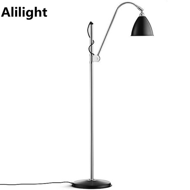 Incandescent floor lamp white black steel floor lights standing lamp incandescent floor lamp white black steel floor lights standing lamp for dining living room study reading aloadofball Image collections