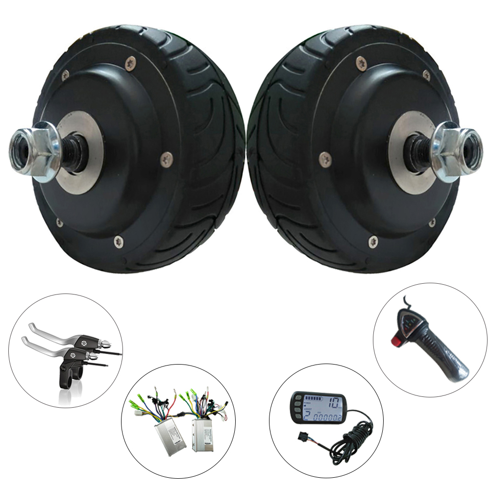 1.5kg Skateboard Double Drive Motor Conversion Kit 4 24/36V 150-250W 2000RPM BLDC Gearless Electric Scooter Hub Motor Wheel 40km h 4 wheel electric skateboard dual motor remote wireless bluetooth control scooter hoverboard longboard