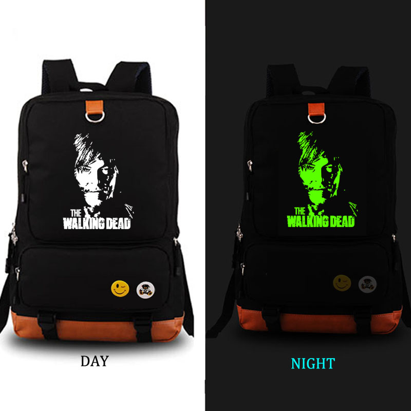 The Walking Dead Backpack noctilucous school bag Men womens backpack student school bag Notebook backpack Daily backpack