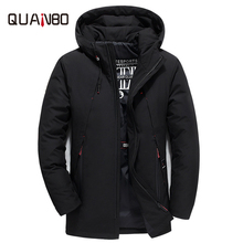 2018 New fashion men's casual long down jacket Young white duck down winter coat High quality warm coat  winter jacket стоимость