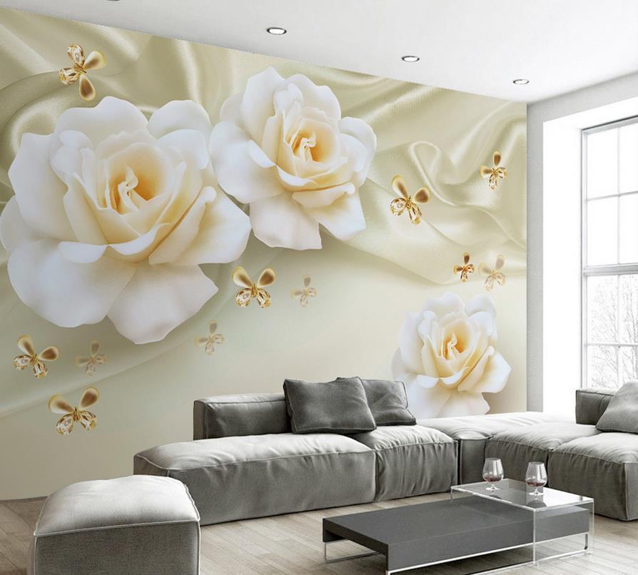 3d wallpaper for room rose silk background wallpaper 3d for 3d customized wallpaper