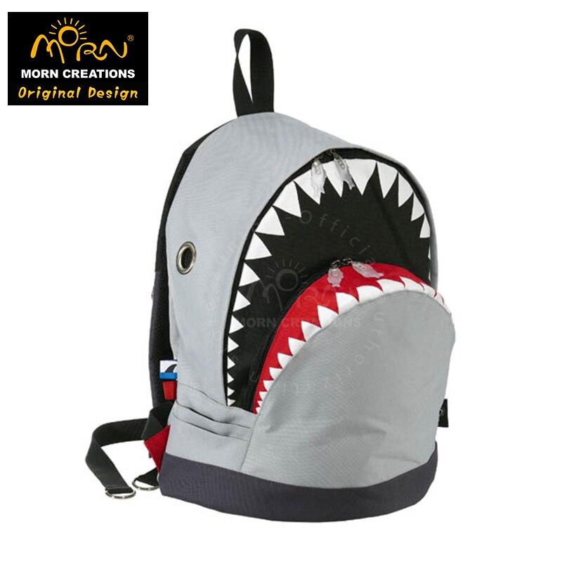 Original Design Morn Creations The Shark Style Shark Backpack (L) Man Backpack Bag Shark Shoulders Bag three creations 200pcs 7x5cm