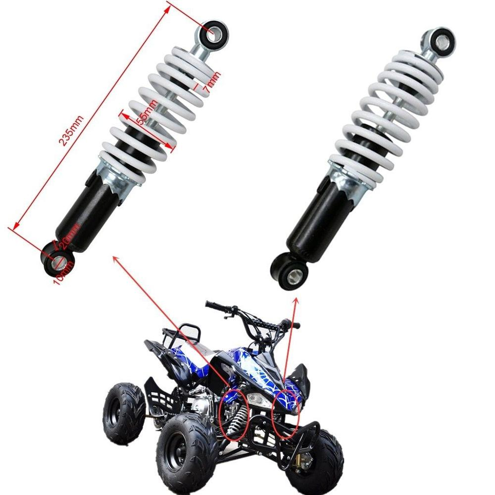 TDPRO New Motorcycle 235mm 9.25 Rear Shock Absorbers Suspension Spring Shocker For Moto Bike Quad ATV Go kart Buggy 70cc 110cc