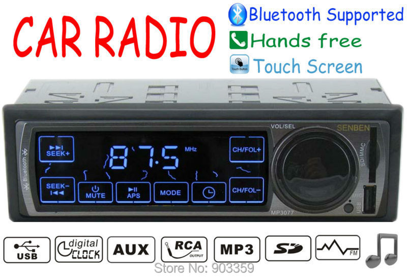 2015 New Car Radio Stereo Player Touch Screen Bluetooth