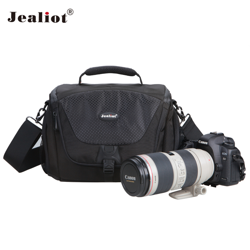 Jealiot Professional dslr Camera bag shoulder bags digital camera waterproof Video Photo bag case for SLR Canon 70d Nikon Sony vintage 100% cowhide leather dslr slr camera video bag cross body messenger bags for sony canon nikon men s handbags travel bags