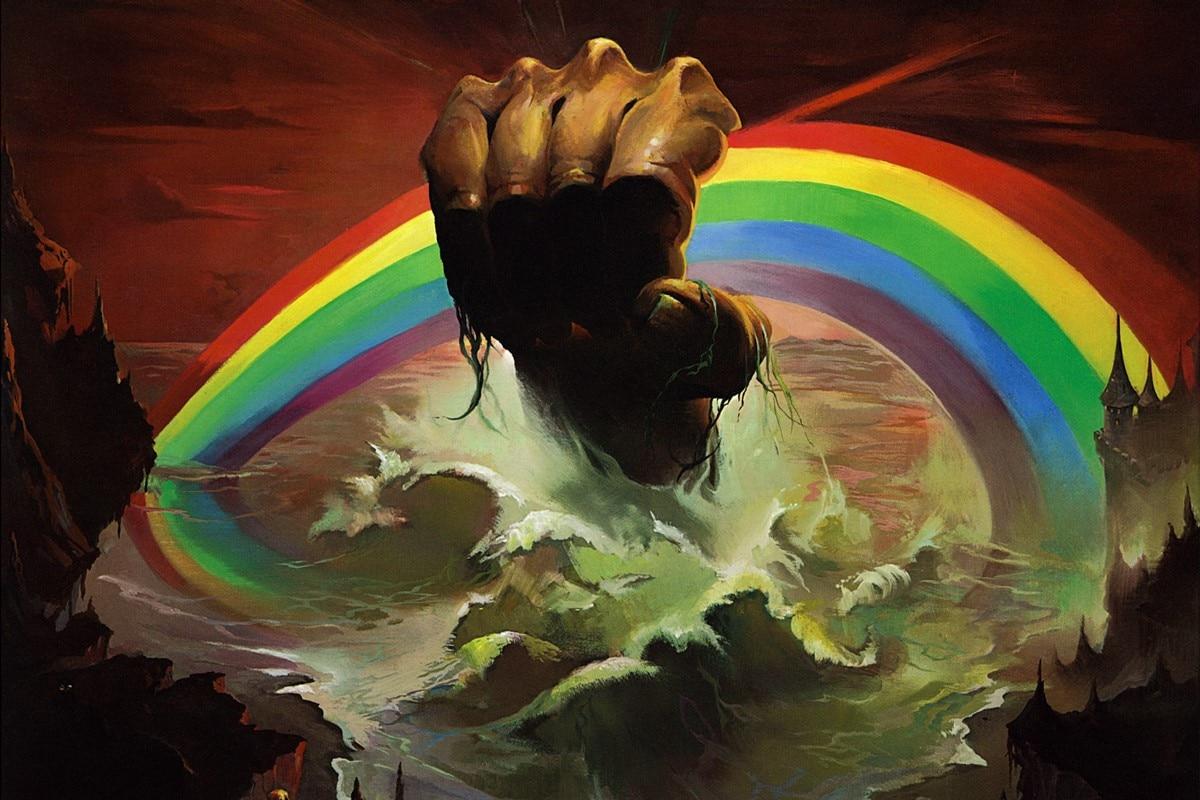 Rainbow Rising Hard Rock Heavy Metal artwork drawing