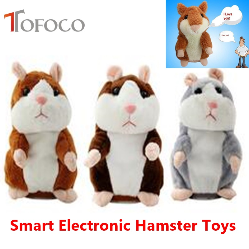 TOFOCO Electronic Talking Hamster Plush Toys Best Early Educational Toy Christmas Gift Speaking Sound Stuffed Electric Pets