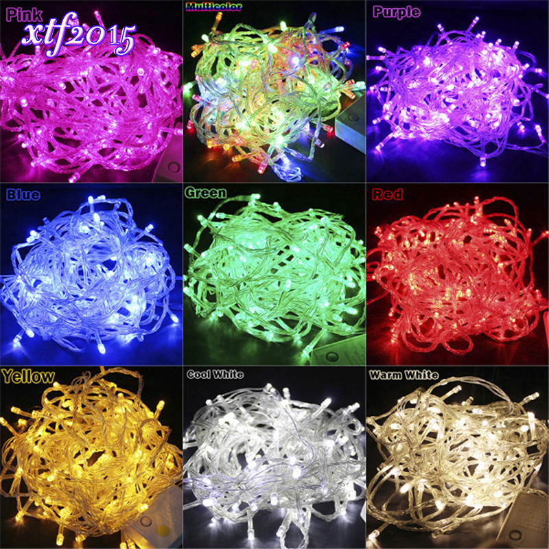 10M / 20M 100/200 LED Led String Light Vanntett Holiday Christmas Wedding Garden Party Dekorasjon String Dekorativt Lys