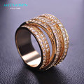 MECHOSEN Hot Sale Luxury Zircon Finger Rings Accessories Multilayer CZ Diamond lord of the rings anel schmuck Gothic Ring bague