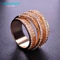 Mechosen venda hot luxury zircon crown anéis para mulheres homens multicamadas anel gótico bague zirconia cz diamante jóias anel schmuck