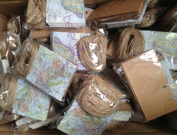 World Map Party Supplies.216pcs Around The World Map Favor Box Th031 A0 Unique Wedding Gift