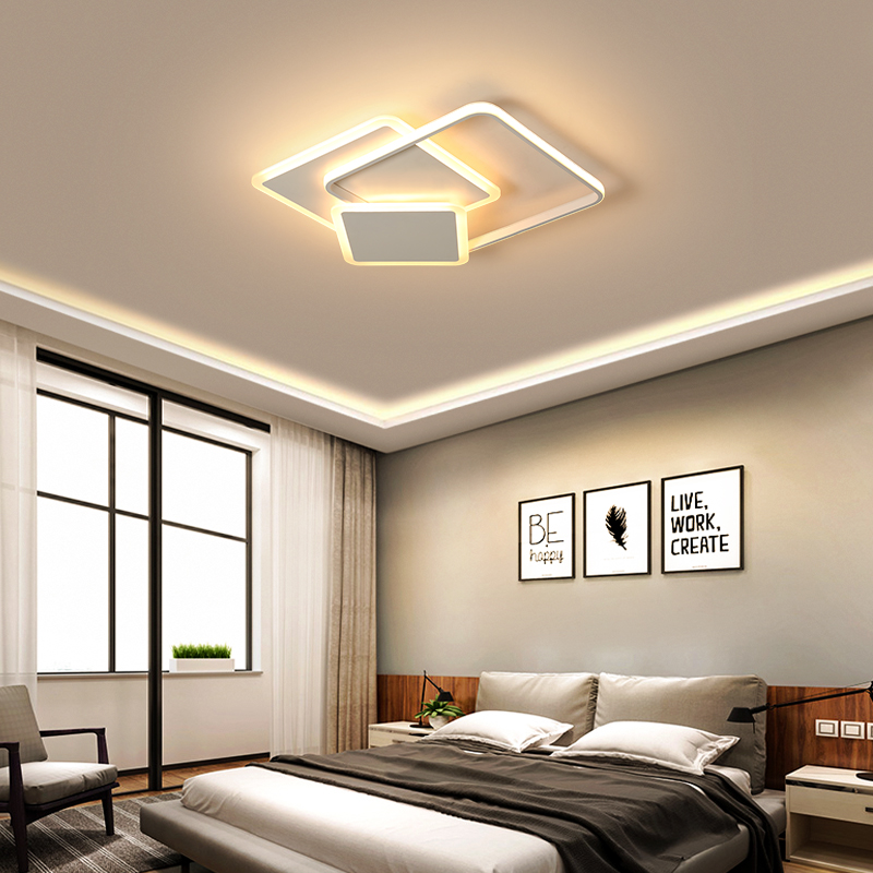 Surface Mounted Modern led Chandelier for living room bedroom study room white or Cofee color home deco Chandelier FixtureSurface Mounted Modern led Chandelier for living room bedroom study room white or Cofee color home deco Chandelier Fixture